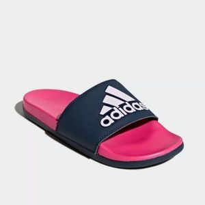 Adidas Women's Adilette Cloudfoam Plus Logo Slides